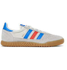 adidas Originals Indoor Super Suede, Faux Leather and Mesh Sneakers