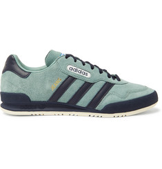 adidas Originals Jeans Super Leather-Trimmed Nubuck Sneakers