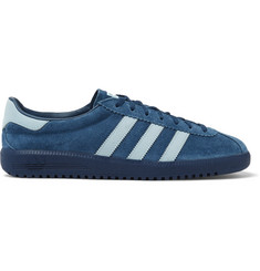 adidas Originals Bermuda Leather-Trimmed Suede Sneakers