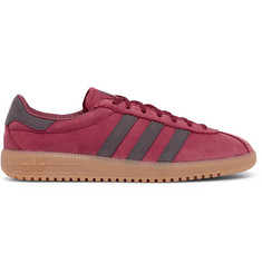 adidas Originals Bermuda Faux Leather-Trimmed Suede Sneakers