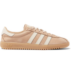 adidas Originals Bermuda Faux Leather-Trimmed Nubuck Sneakers