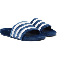 adidas Originals Adilette Striped Velvet Slides