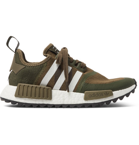 780249fc03ff0 Adidas Originals + White Mountaineering Nmd R1 Trail Primeknit Sneakers In  Army Green