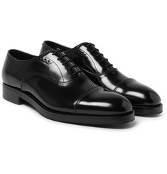 Prada - Cap-Toe Spazzolato Leather Oxford Shoes