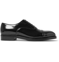 Prada Cap-Toe Spazzolato Leather Oxford Shoes