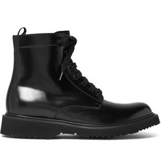 Prada Polished-Leather Boots