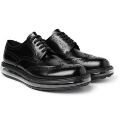 Prada - Levitate Polished-Leather Wingtip Brogues