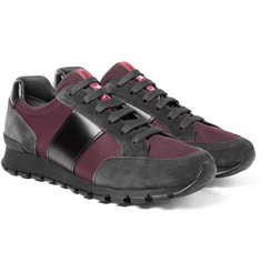 Prada - Match Race Panelled Leather, Suede, Nylon and Mesh Sneakers