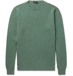 Incotex Textured-Knit Virgin Wool Sweater