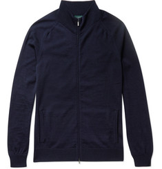 Incotex Merino Wool Zip-Up Cardigan