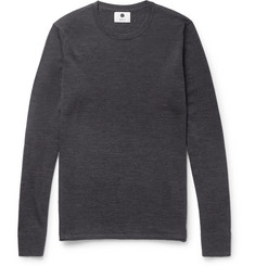 NN07 New Anthony Slim-Fit Mélange Wool Sweater