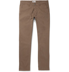 NN07 Marco Slim-Fit Brushed Stretch-Cotton Twill Trousers