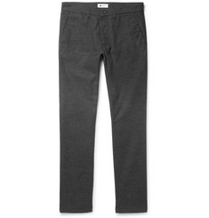 NN07 Marco Slim-Fit Herringbone Stretch Cotton-Blend Trousers
