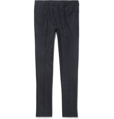 NN07 Oslo Slim-Fit Checked Stretch Wool-Blend Twill Trousers