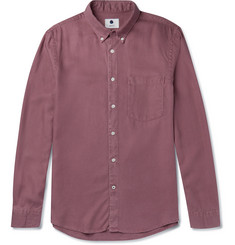 NN07 Falk Button-Down Collar Garment-Dyed Tencel Shirt