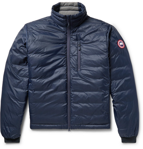 Canada Goose Lodge Packable Quilted Nylon-ripstop Down Jacket In Midnight Blue