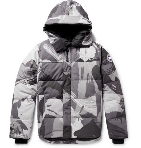 7ae206a1ab7c2 Shoptagr | Macmillan Camouflage Print Quilted Shell Hooded Down ...