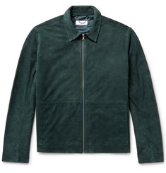 Enlist - Slim-Fit Suede Blouson Jacket