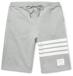 Thom Browne Striped Loopback Cotton-Jersey Shorts