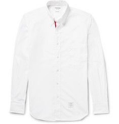 Thom Browne Slim-Fit Button-Down Collar Cotton-Poplin Shirt