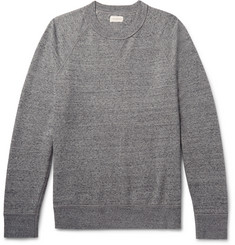 Club Monaco Mélange Loopback Stretch-Cotton Jersey Sweatshirt