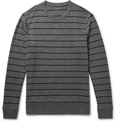 Club Monaco Striped Mélange Cotton-Jersey Sweatshirt
