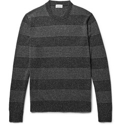 Club Monaco Striped Mélange Silk and Cotton-Blend Sweater