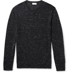 Club Monaco Mélange Wool-Blend Henley Sweater