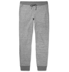 Club Monaco Essential Slim-Fit Tapered Mélange Loopback Cotton-Jersey Sweatpants