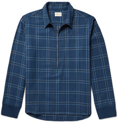 Simon Miller Plaid Cotton-Twill Shirt