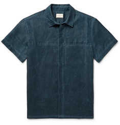 Simon Miller Slim-Fit Distressed Cotton Shirt