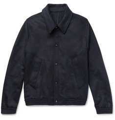 AMI Slim-Fit Wool-Blend Felted-Twill Jacket