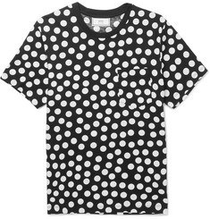 AMI Slim-Fit Polka-Dot Cotton-Jersey T-Shirt
