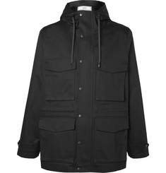 AMI Cotton-Twill Hooded Jacket