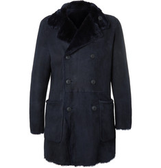 Giorgio Armani Slim-Fit Reversible Double-Breasted Shearling Coat