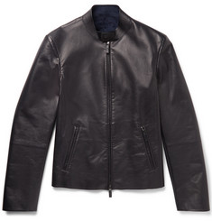 Giorgio Armani Slim-Fit Leather Jacket