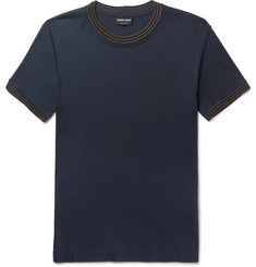 Giorgio Armani Contrast-Trimmed Jersey T-Shirt