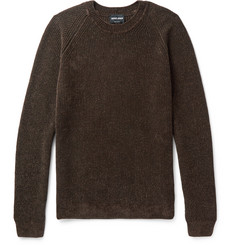 Giorgio Armani Mélange Ribbed-Knit Sweater