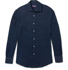 Ralph Lauren Purple Label Cutaway-Collar Linen Shirt