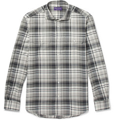 Ralph Lauren Purple Label Stewart Checked Cotton and Cashmere-Blend Shirt