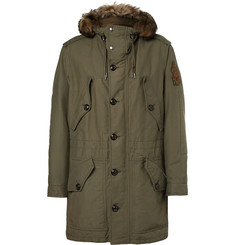 Ralph Lauren Purple Label Cotton-Blend Canvas Padded Parka