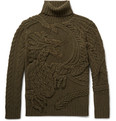 Ralph Lauren Purple Label - Cable-Knit Wool and Cashmere-Blend Rollneck Sweater
