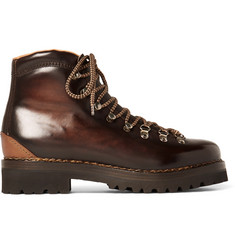Ralph Lauren Purple Label Findel Burnished-Leather Boots