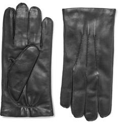 Ralph Lauren Purple Label Cashmere-Lined Leather Gloves