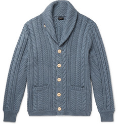 J.Crew - Shawl-Collar Cable-Knit Cotton Cardigan