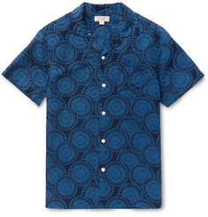 J.Crew Camp-Collar Printed Silk and Linen-Blend Shirt