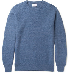 Kingsman Tuck-Stitch Wool and Linen-Blend Sweater