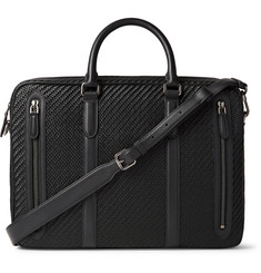 Ermenegildo Zegna - Pelle Tessuta Leather Briefcase