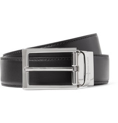 Ermenegildo Zegna 3cm Black and Brown Reversible Leather Belt