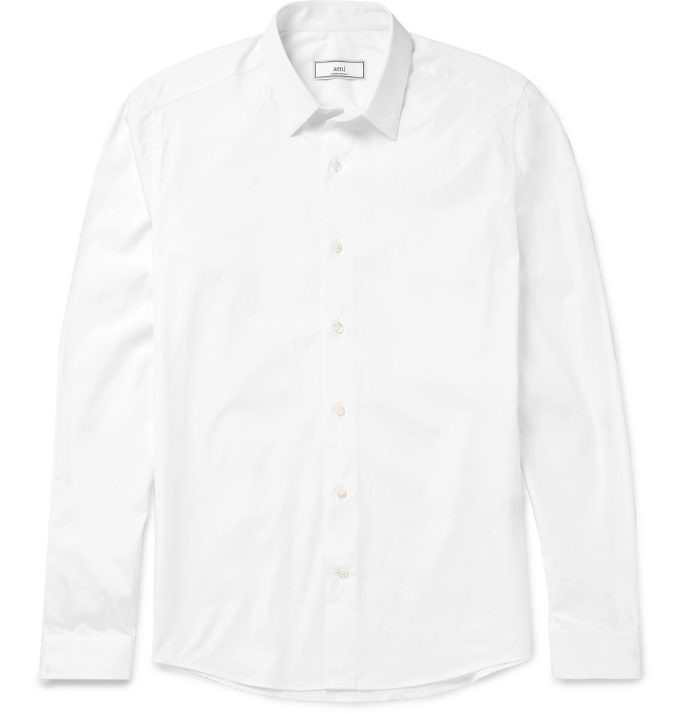 AMI Slim-Fit Cotton-Poplin Shirt